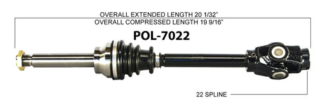 1989 Polaris Trailboss 250 front cv axles Trakmotive axles
