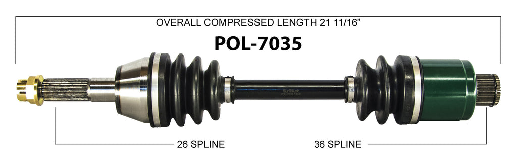 Front Left or Right Complete CV Axle Shaft Fits 2004 Polaris Sportsman 500