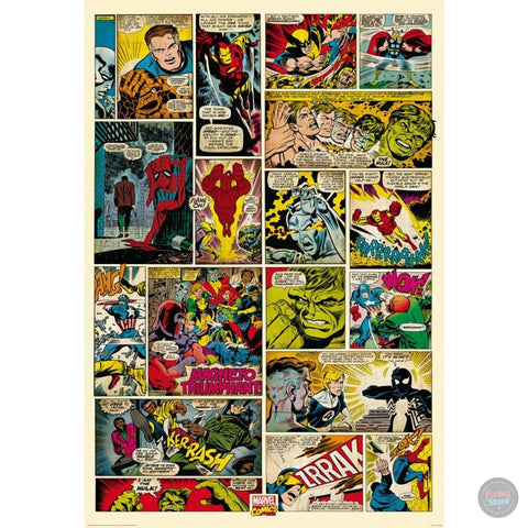 MARVEL COMIC BOOK WALL MURAL