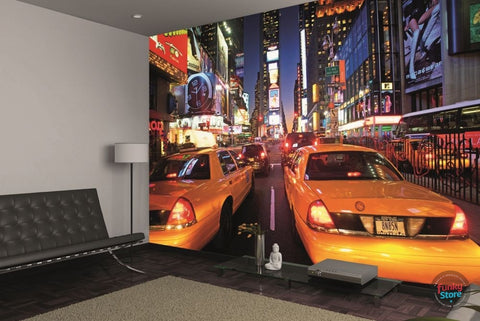 NEW YORK TAXI TIMES SQUARE WALL MURAL