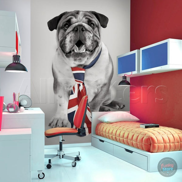BRITISH BULLDOG WALL MURAL