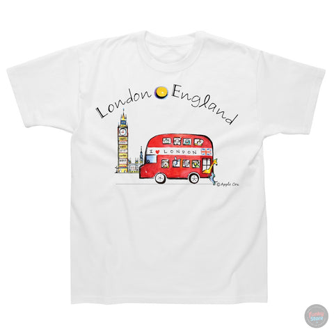 Big Ben Bus- Children's White T-Shirt