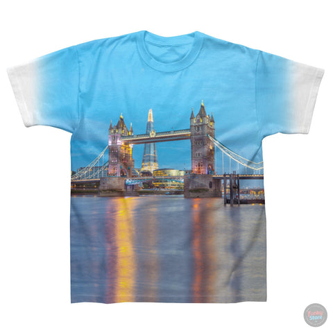 Tower Bridge & Shard- White T-Shirt