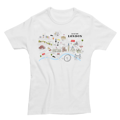 Alice Tait London Map Fitted T-Shirt