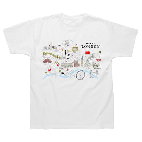 Alice Tait London Map Children's T-Shirt