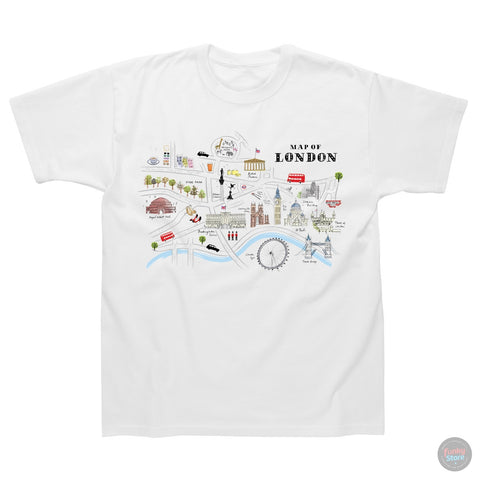 Alice Tait London Map T-Shirt