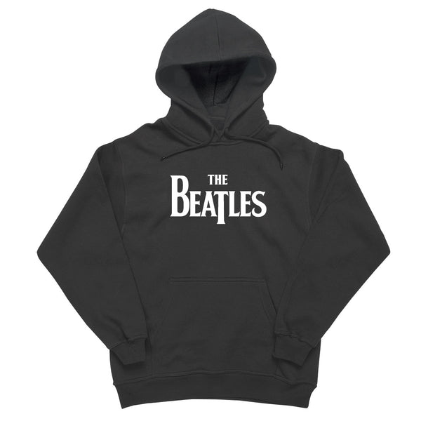 The Beatles - Black Logo Hooded Sweatshirt
