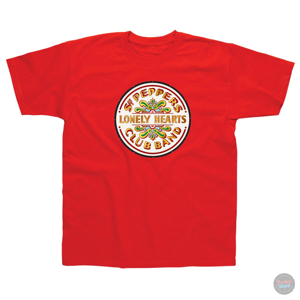 The Beatles - Lonely Hearts - Red T-Shirt