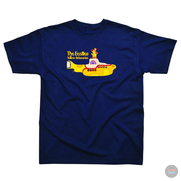 The Beatles - Yellow Submarine - Navy T-Shirt