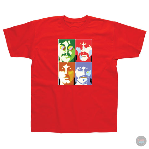 The Beatles - Sea of Science - Red T-Shirt