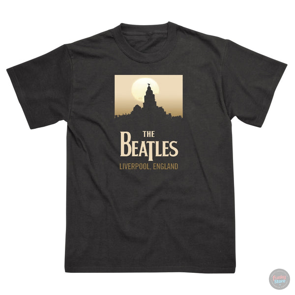 The Beatles - Liverpool - Black T-Shirt