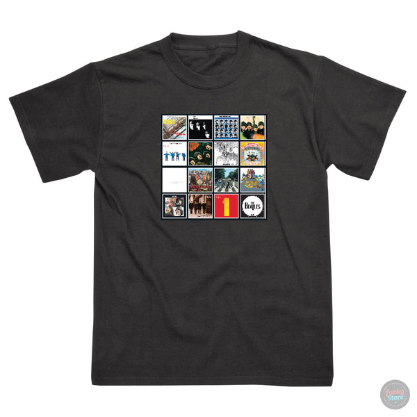 The Beatles - Album Covers - Black T-Shirt