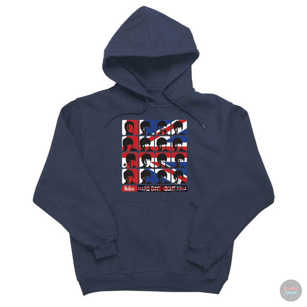 The Beatles - Hard Day's Night - Union Jack Hooded Sweatshirt