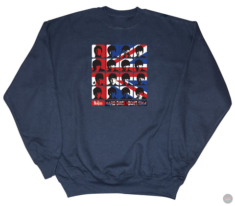 The Beatles - Hard Day's Night Navy Sweatshirt