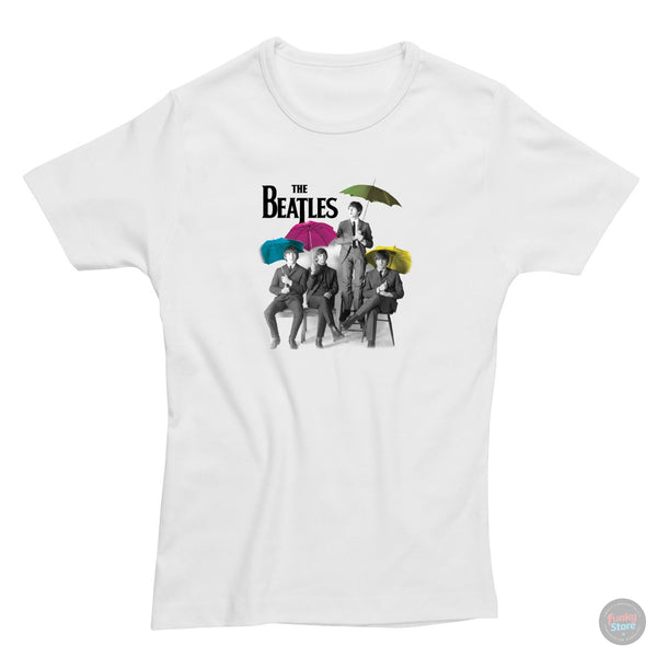 The Beatles - Umbrella - White T-Shirt