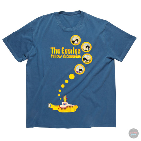 The Beatles - Yellow Submarine - Steel Blue T-Shirt