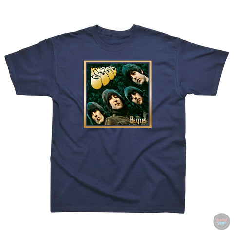 The Beatles - Rubber Soul - Navy T-Shirt