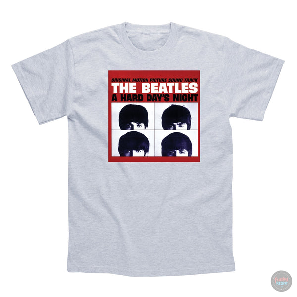 The Beatles - Hard Day's Night - Grey T-Shirt