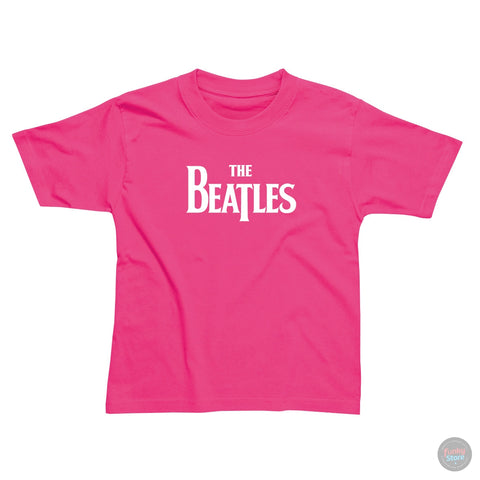The Beatles - Logo - Cerise Pink T-Shirt