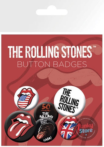 Rolling Stones Lips Badge Pack