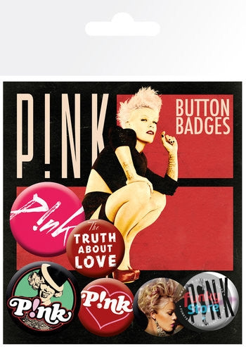 Pink The Truth About Love Badge Pack