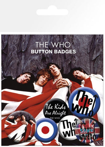 The Who Lyrics and Logos Badge Pack