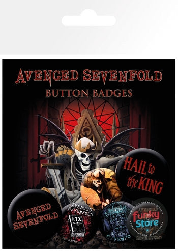 Avenged Sevenfold Hail to the King Badge Pack