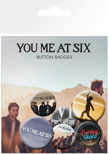 You Me At Six Mix Badge Pack