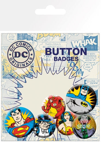 DC Comics Heroes and Villains Badge Pack