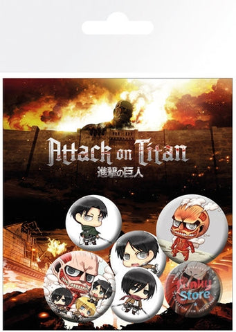 Attack on Titan Mix Badge Pack