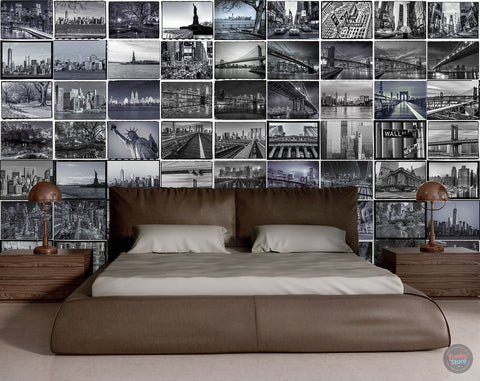 THE BIG APPLE CREATIVE COLLAGE 64 PIECE WALLPAPER