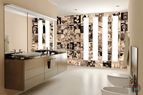 LIFE FRONT COVERS CREATIVE COLLAGE WALLPAPER 64 PIECES
