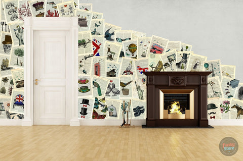 MARION MCCONAGHIE CREATIVE COLLAGE WALLPAPER 64 PIECES