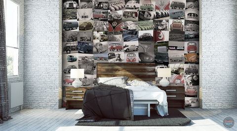 VOLKSWAGEN CREATIVE COLLAGE WALLPAPER 64 PIECES