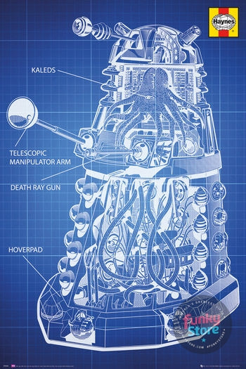 Doctor Who Haynes Dalek Blueprint Maxi Poster