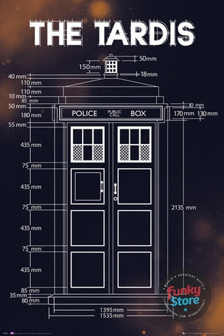 Doctor Who Tardis Plans Maxi Poster