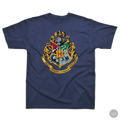 Hogwarts Crest - Harry Potter - Navy T-Shirt