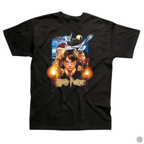 Harry Potter - Montage - Black T-Shirt