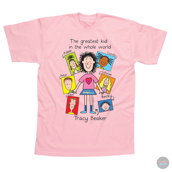 Jacqueline Wilson - Greatest Kid - Baby Pink T-Shirt