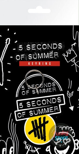5 Seconds of Summer Yellow Logo Keyring