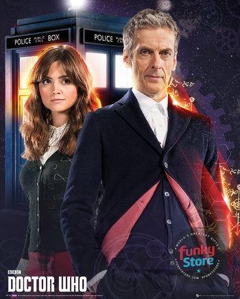 Doctor Who Doctor and Clara Mini Poster