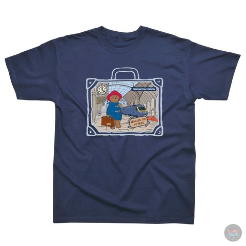 Paddington Bear - Paddington Station - Navy T-Shirt