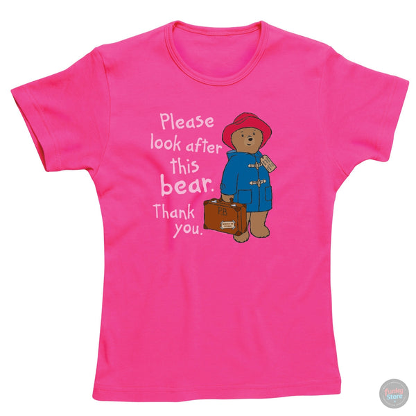 Paddington Bear - Please Look After This Bear - Pink T-Shirt