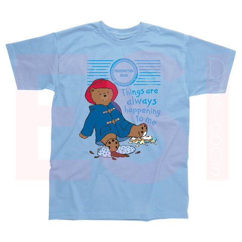 Paddington Bear - Things Always Happen - Sky Blue T-Shirt