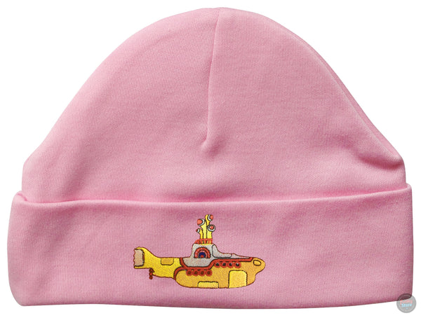 Beatles Embroidered Beanie Hat (Baby Pink)