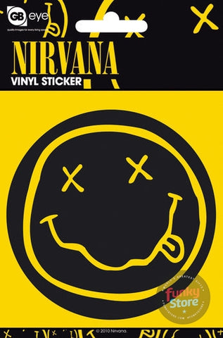 Nirvana Smiley Vinyl Sticker