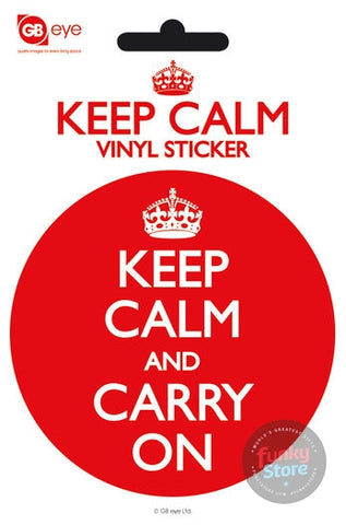 Keep Calm And Carry On Vinyl Sticker