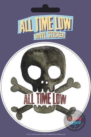 All Time Low Skull Vinyl Sticker