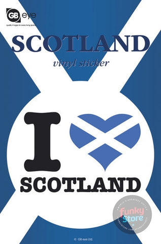 I Love Scotland Vinyl Sticker