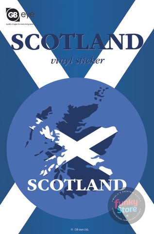 Scotland Map Vinyl Sticker